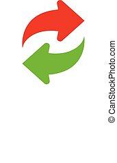 Vector refresh icon. Vector illustration