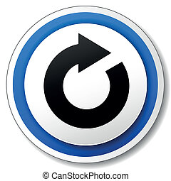 Vector illustration of black and blue refresh icon