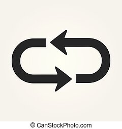 Vector refresh icon. Vector illustration.