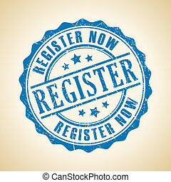 Vector register now seal illustration