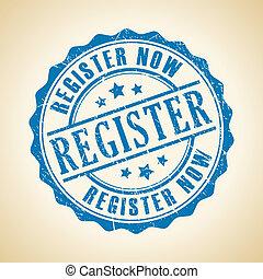 Vector register now seal illustration