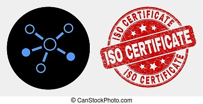 Vector Relations Icon and Distress ISO Certificate Watermark
