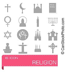 Vector Religion icon set