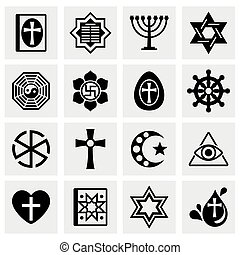 Vector Religion icon set
