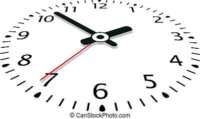 vector, reloj