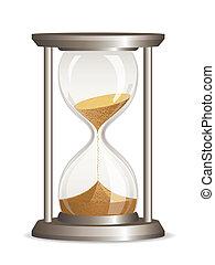 vector, reloj de arena