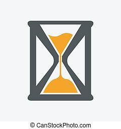 vector, reloj de arena, icono