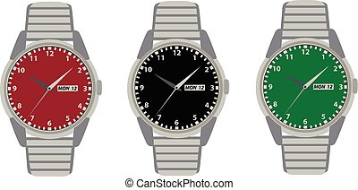 vector, relojes