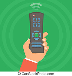 Vector remote control concept - icon in flat style