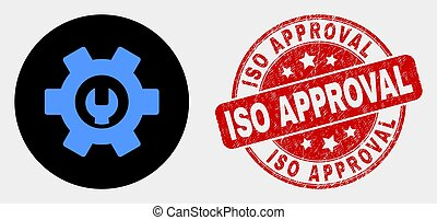 Vector Repair Options Icon and Distress ISO Approval Watermark