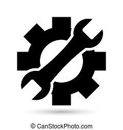 vector, reparación, icono