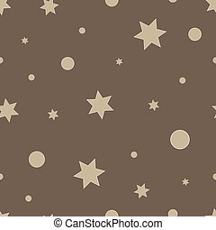 Vector repeating texture. Seamless geometric pattern with stars.