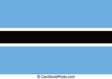 Vector Republic of Botswana flag