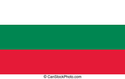 Bulgaria flag - Vector Republic of Bulgaria flag