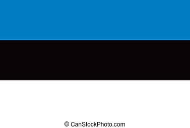 Estonia flag - Vector Republic of Estonia flag