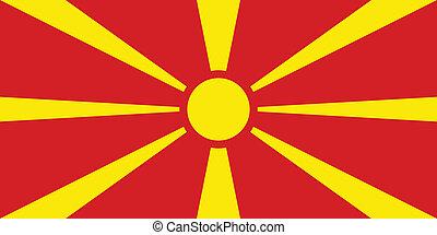 Macedonia flag - Vector Republic of Macedonia flag