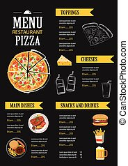 vector restaurant cafe menu template flat design
