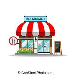 Vector Restaurant design isolated on white background