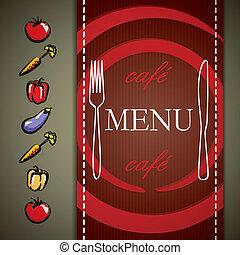vector restaurant menu design with vegetables