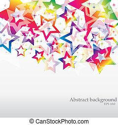 vector, resumen, arco irirs, plano de fondo, para, empresa /...
