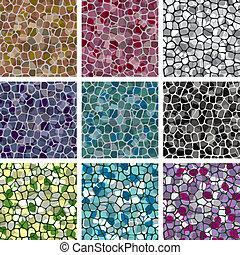 vector, resumen, colorido, azulejo, fondos
