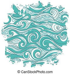 vector, resumen, plano de fondo, ondas