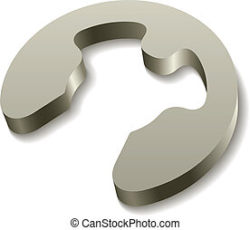 vector retaining snap ring circlip icon