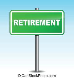 Vector retirement signpost