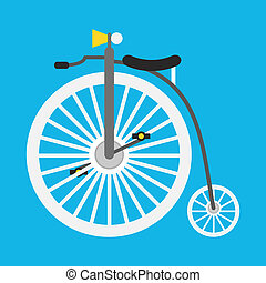 Vector Retro Bicycle Icon