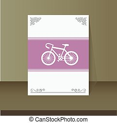 retro bicycle vintage card design