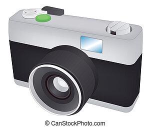 Vector retro camera