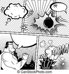 Vector Retro Comic Book Speech Bubbles Illustration