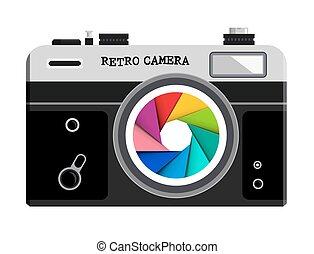 Vector Retro Film Photo Camera