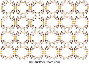 Vector Retro Floral Pattern