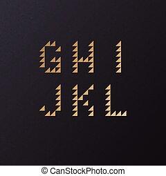 Vector Retro Geometric Font