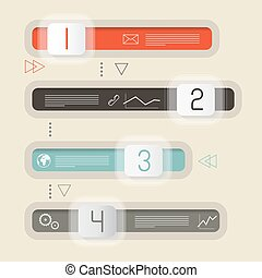 Vector Retro Infographics Design