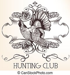 Vector retro logotype design for hunter club, badges etc.eps