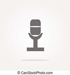 vector Retro microphone icon glossy button