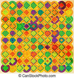 Vector retro mosaic background