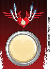 Vector retro motor heart
