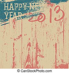 vector, retro, plano de fondo, año, nuevo, styled., eps8., ...
