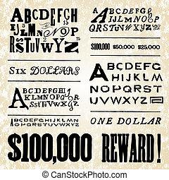 Vector Retro Poster Fonts