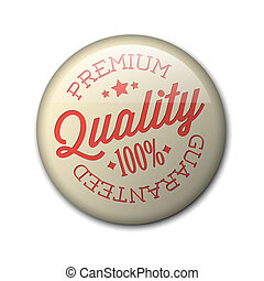 Vector retro premium quality badge - Vector retro premium ...