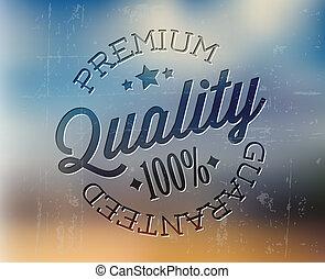 Vector retro premium quality detailed stamp