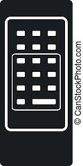 Vector Retro Remote Control Icon