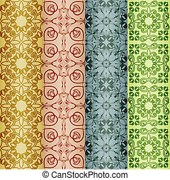 vector retro seamless patterns