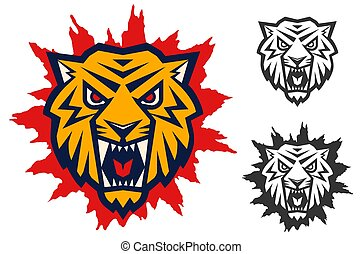 logo with head of a tiger
