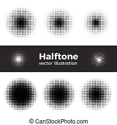 Vector retro style dotwork background. Abstract dotted ...