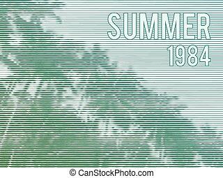 Vector Retro Summer Poster