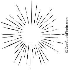 sun rays - vector retro sun rays